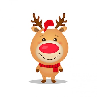 Cute cartoon reindeer
