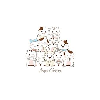 Cute cartoon sketch