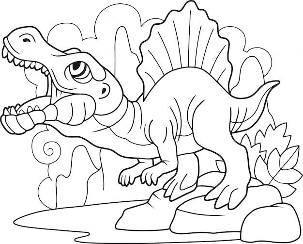 Cute cartoon spinosaurus
