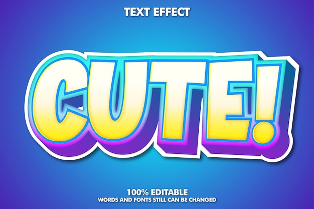 Cute cartoon text effect