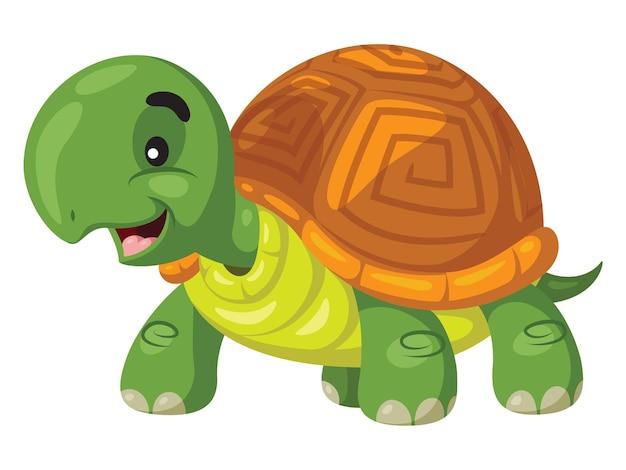귀여운 만화 거북이 미소