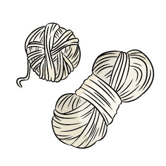 Cute cartoon yarn doodle . hand made logo. media highlights symbol