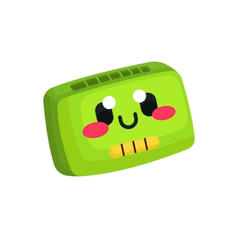 Cute cassette tapes kawaii character illustration