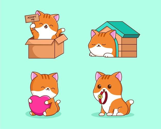 Милый кот усыновить мультфильм