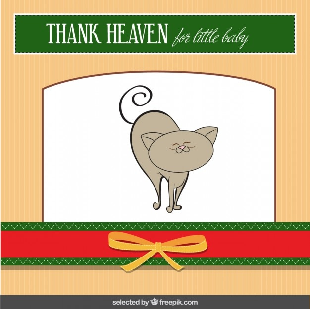 Cute cat baby shower card
