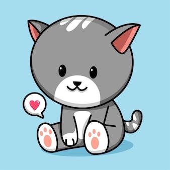 かわいい猫の漫画のキャラクターのイラスト
