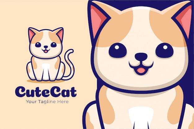 귀여운 고양이 만화 그림 o 앉아있는 포즈