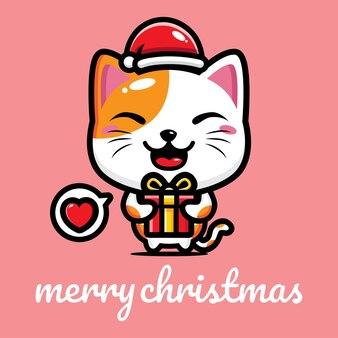 크리스마스를 축하하는 귀여운 고양이