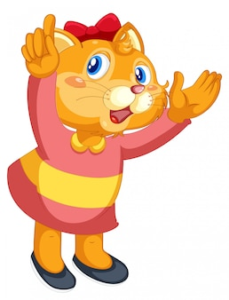 A cute cat character