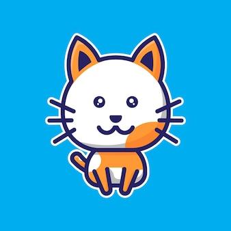 Cute cat chibi character