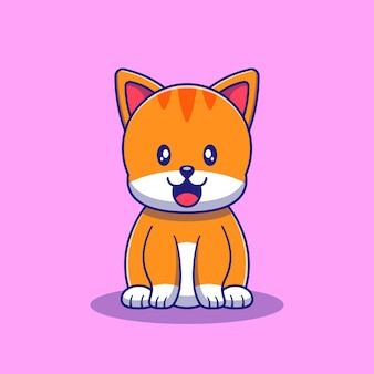 Cute cat eating fish illustration. cat mascot cartoon characters animals icon concept isolated.