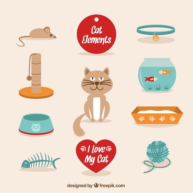 Cute cat elements pack