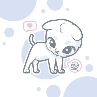 Милый кот логотип мультипликационный персонаж
