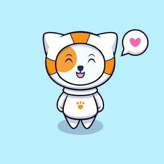 우주 비행사가 될 귀여운 고양이 사랑