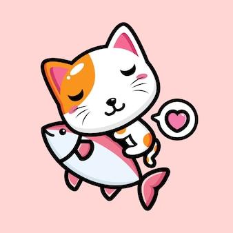 귀여운 고양이 마스코트 디자인