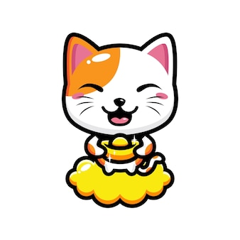 Cute cat mascot   design