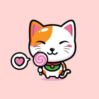 Милый кот талисман