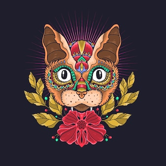 Милый кот декоративный вектор иллюстрации