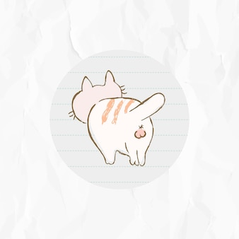 Cute cat story highlights icon for social media vector