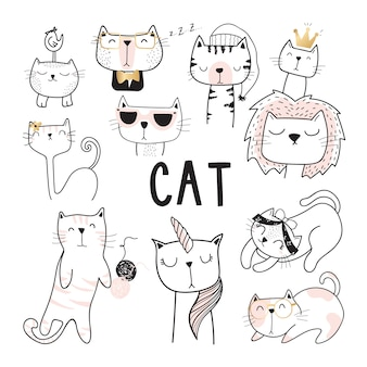 Cute Cat Vector Collection