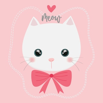 Cute cat vector.