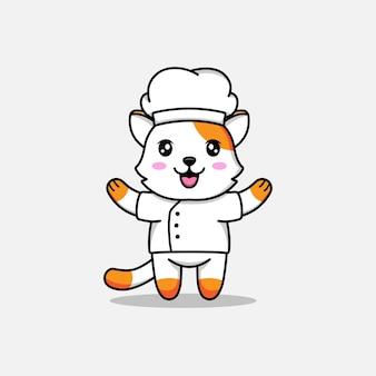 Милый кот в униформе шеф-повара