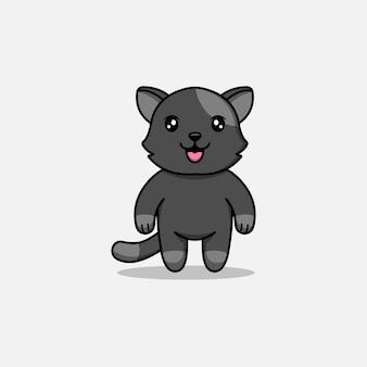 Милый кот с серой кожей