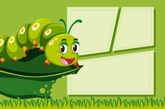 Cute catapillar frame background