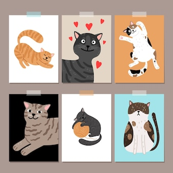 Симпатичные кошки карты стола.