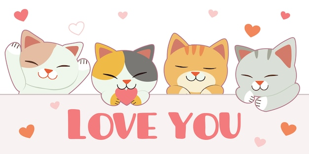 Cute cats illustration