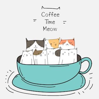 カップでかわいい猫