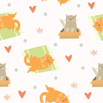 귀여운 고양이 패턴