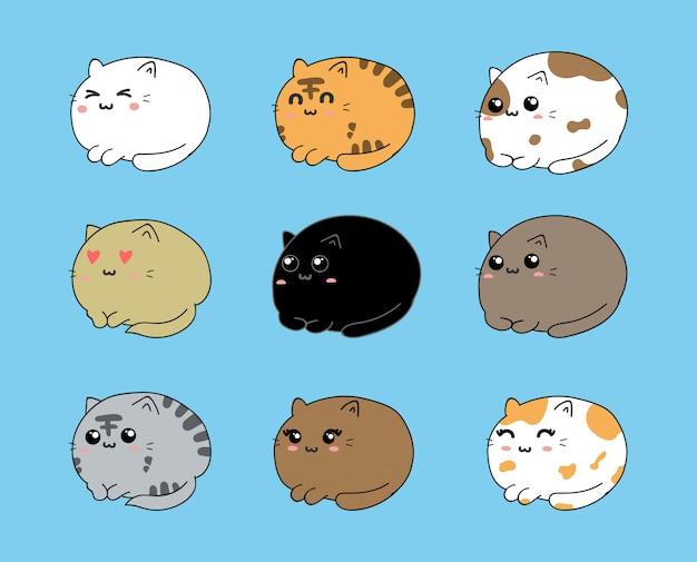 Cute cats set