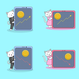 Cute cats with coin collection
