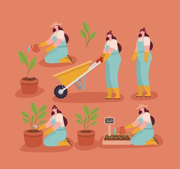 Набор милых кавказских плантаторов