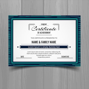Cute certificate with a frame
