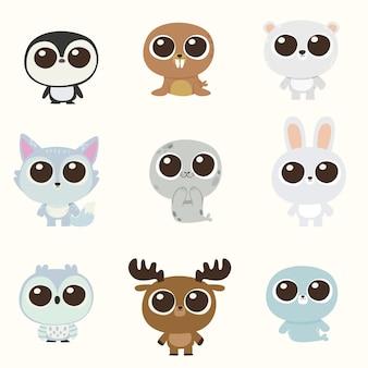 Cute character arctic animal