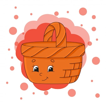 Cute character. colorful vector illustration.