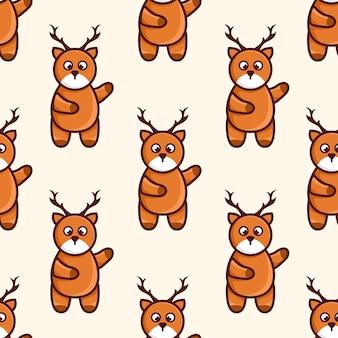 Cute character deer  pattern design