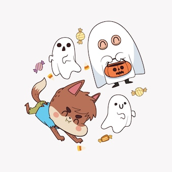 Cute character halloween party