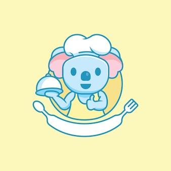 Симпатичный персонаж коала-повар