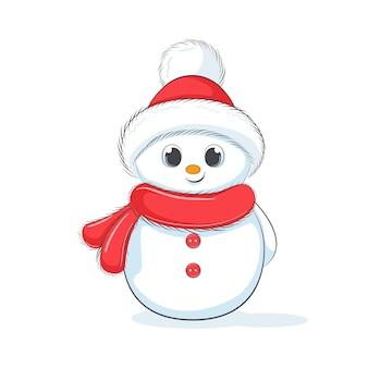Милый веселый снеговик