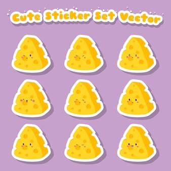 귀여운 치즈 스티커 세트