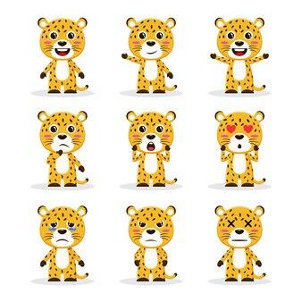 Набор симпатичных гепардов