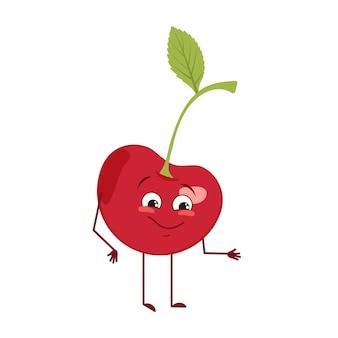 Милый вишневый персонаж