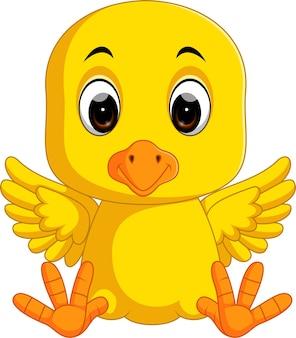 귀여운 치킨 만화 프리미엄 벡터