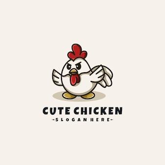 かわいい鶏のロゴ