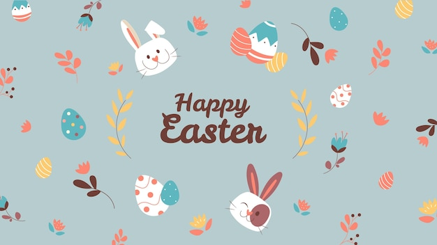 Cute child-like easter desktop wallpaper