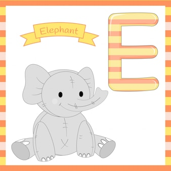 Cute children abc animal alphabet