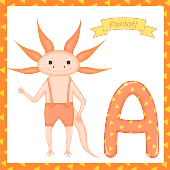 Cute children abc animal zoo alphabet a. for kids learning english vocabulary. vector illustration